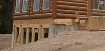 Whisper Creek Log Homes Foundation