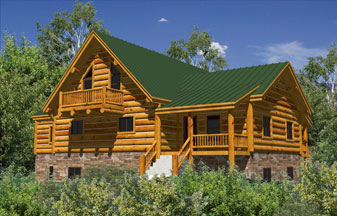 Whisper Creek Log Homes Plans! Grizzly Series