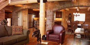 Discover Whisper Creek Log Homes Interiors Image