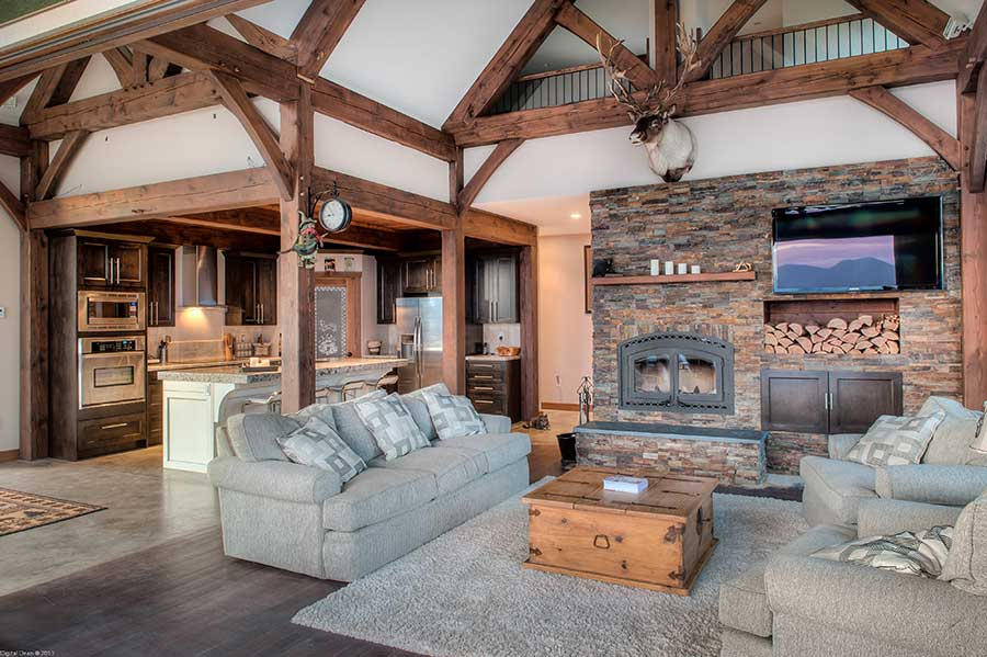 Ultra modern bedroom interiors - Whisper Creek Log Homes Beautiful Log Homes From 39 000